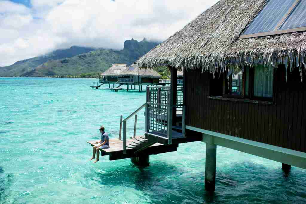 Hilton Moorea Lagoon Resort and Spa - sitting on overwater bungalow porch