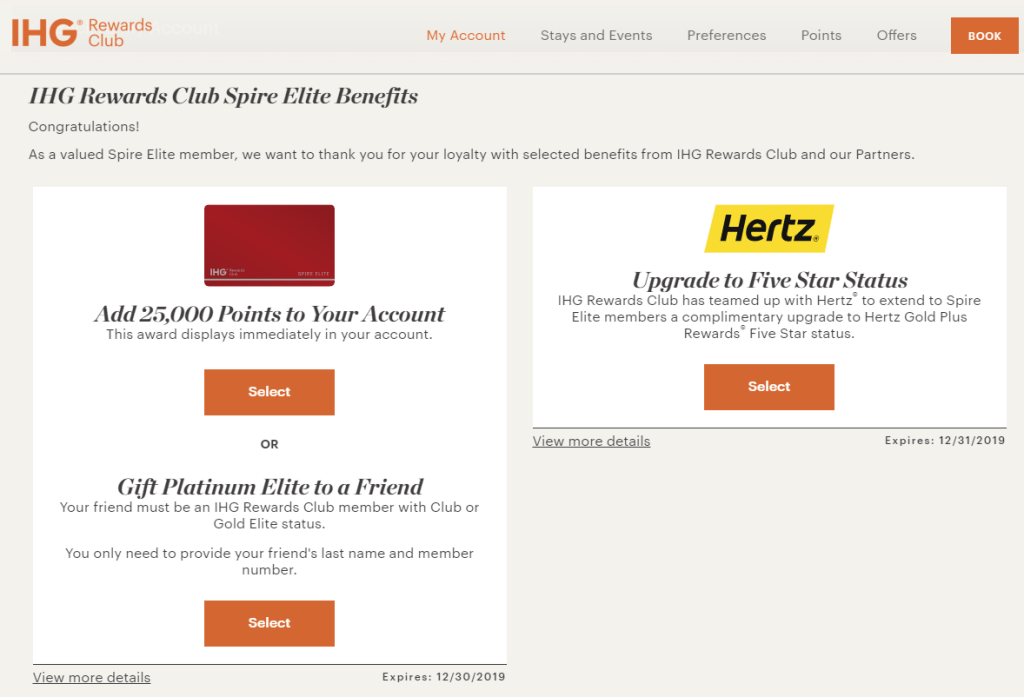 IHG Spire Elites: Claim Your Elite Status Gift Before It's Too Late