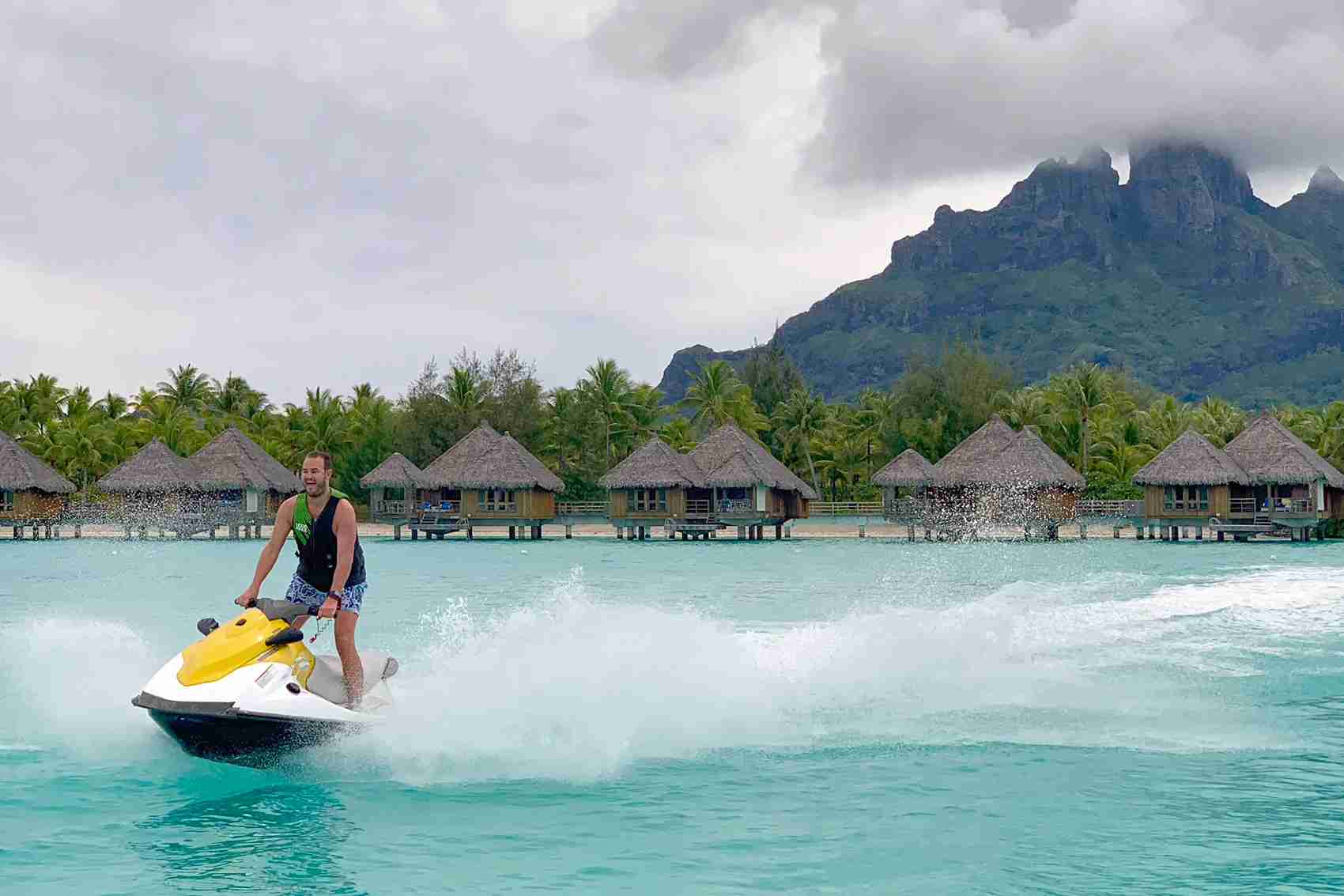 Yes, you can rent jet skis in Bora Bora (Photo by Zach Honig / The Points Guy)