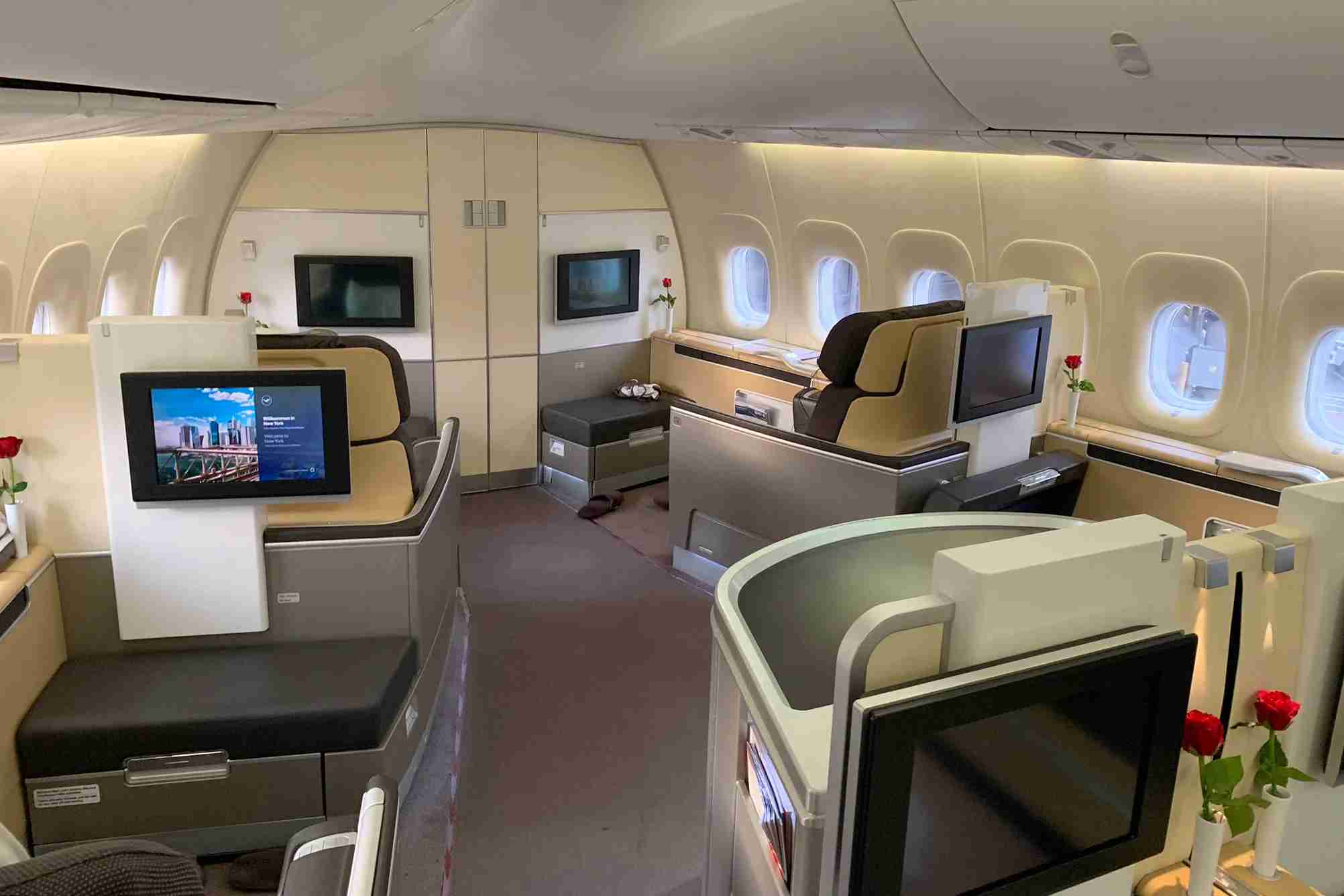 Asiana offers one of the cheapest ways to book Lufthansa first class, but they do pass on massive fuel surcharges