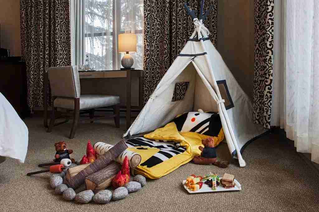 In-room tents at Park Hyatt Beaver Creek. Image courtesy of the hotel.