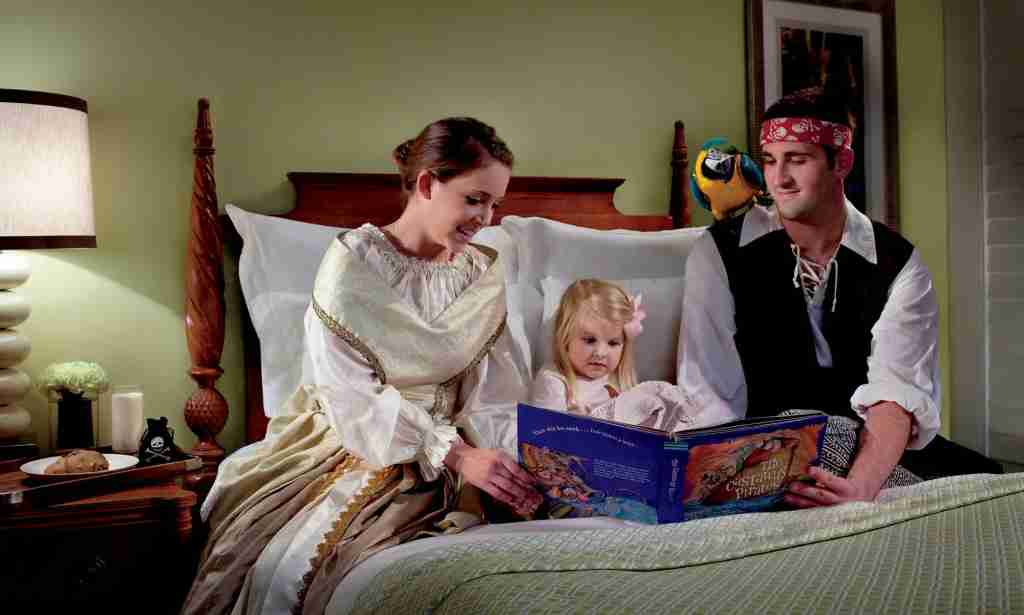 The Ritz-Carlton, Amelia Island, Florida, offers a pirate and princess tuck-in with milk and cookies. Image courtesy of Ritz Carlton