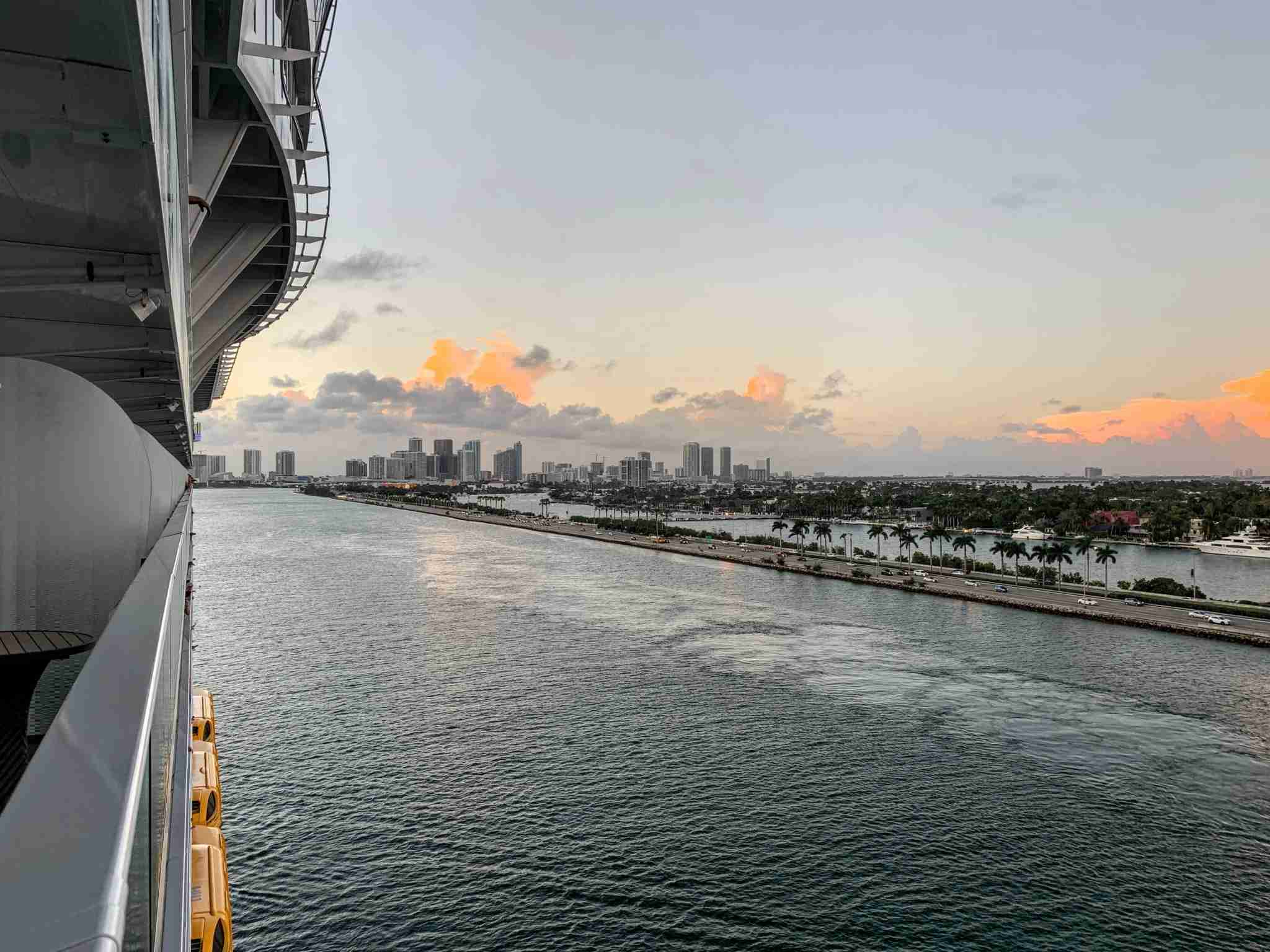 Royal Caribbean Symphony of the Seas - Sunset over Miami