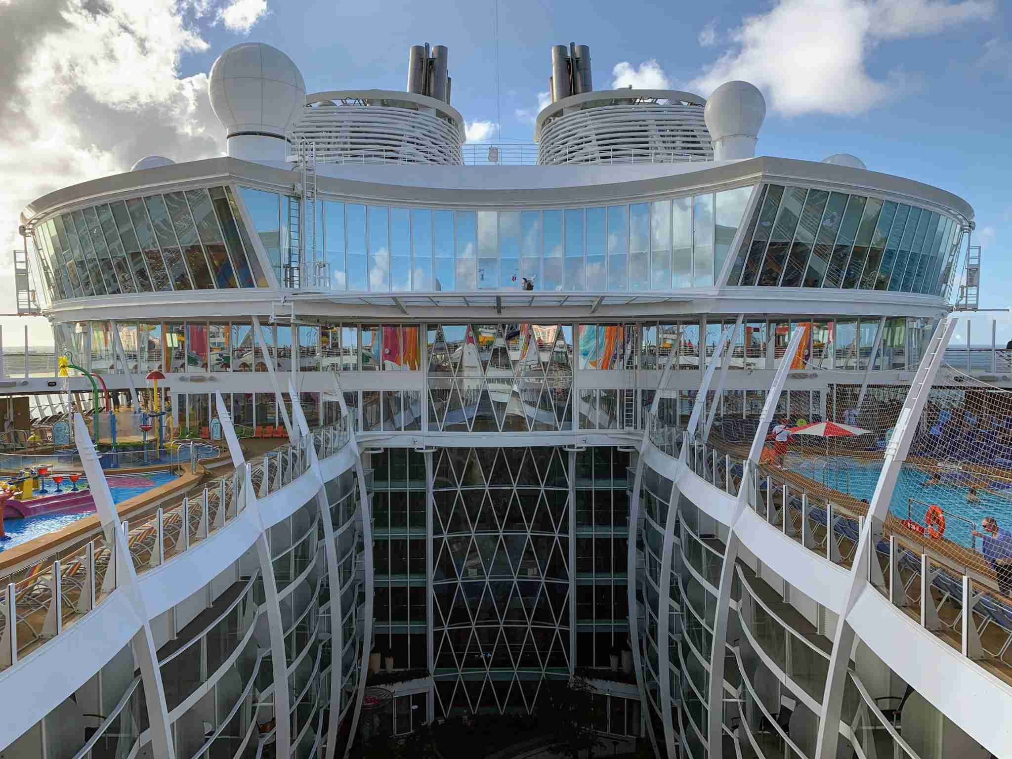 Royal Caribbean Symphony of the Seas - Top Deck Closeup