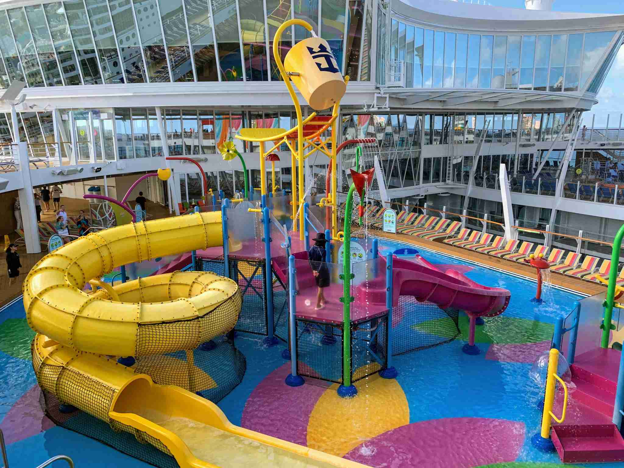 Royal Caribbean Symphony of the Seas - top down view kids pool