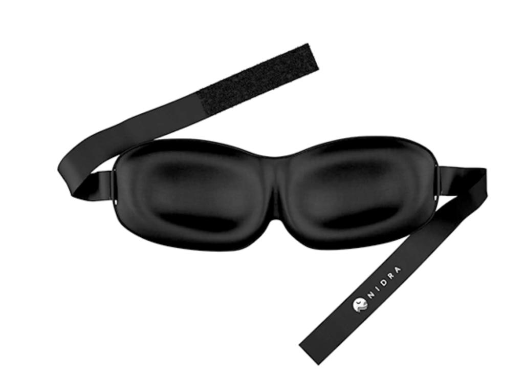 The Nidra Eye Mask - total black out, comfortable and inexpensive. (Image via Nidra)