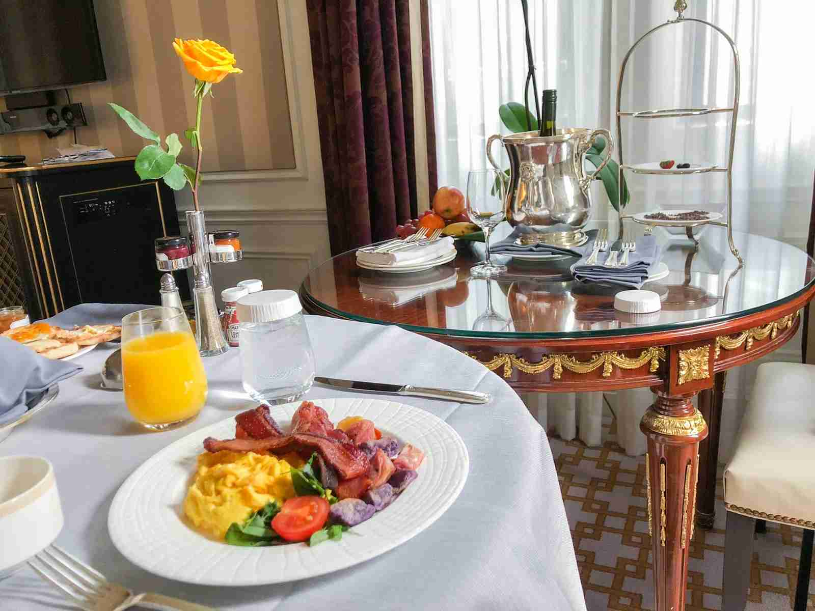 Marriott Platinum breakfast at the St. Regis New York (Summer Hull / The Points Guy)