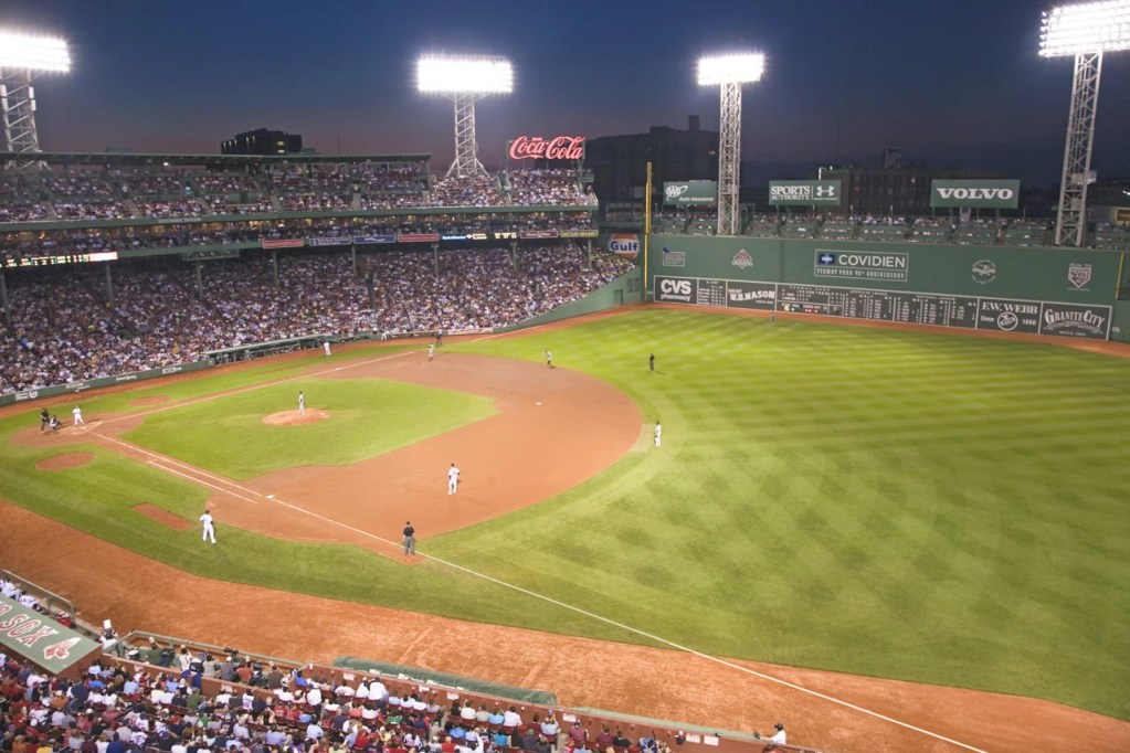 Fenway Park in Boston, MA. (Photo via Shutterstock)