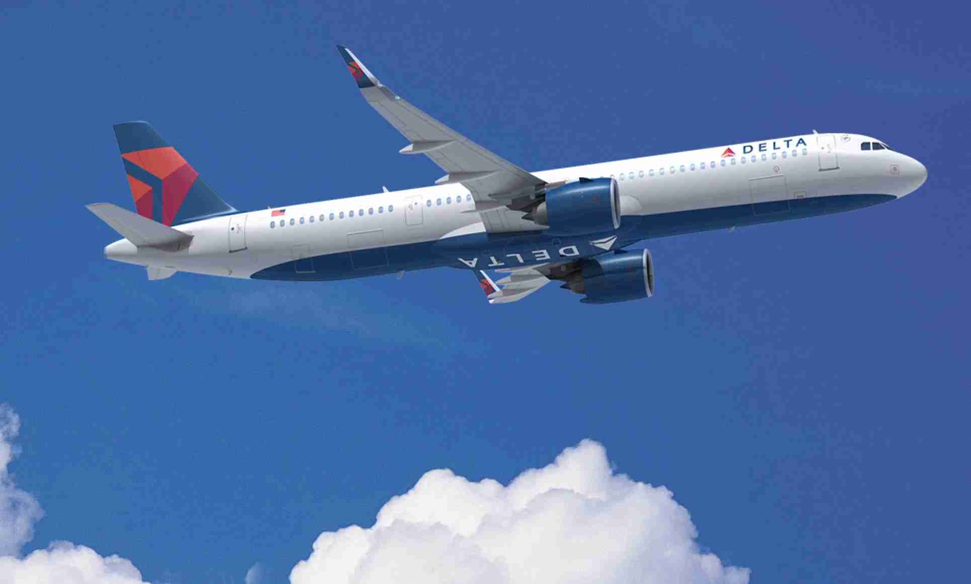 Delta A321neo flying