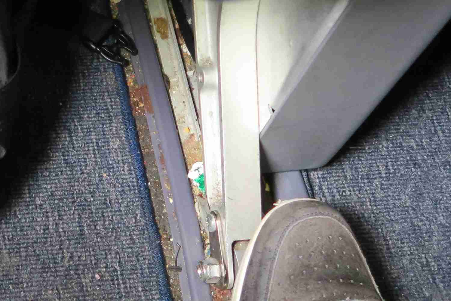 The area under my seat wasn