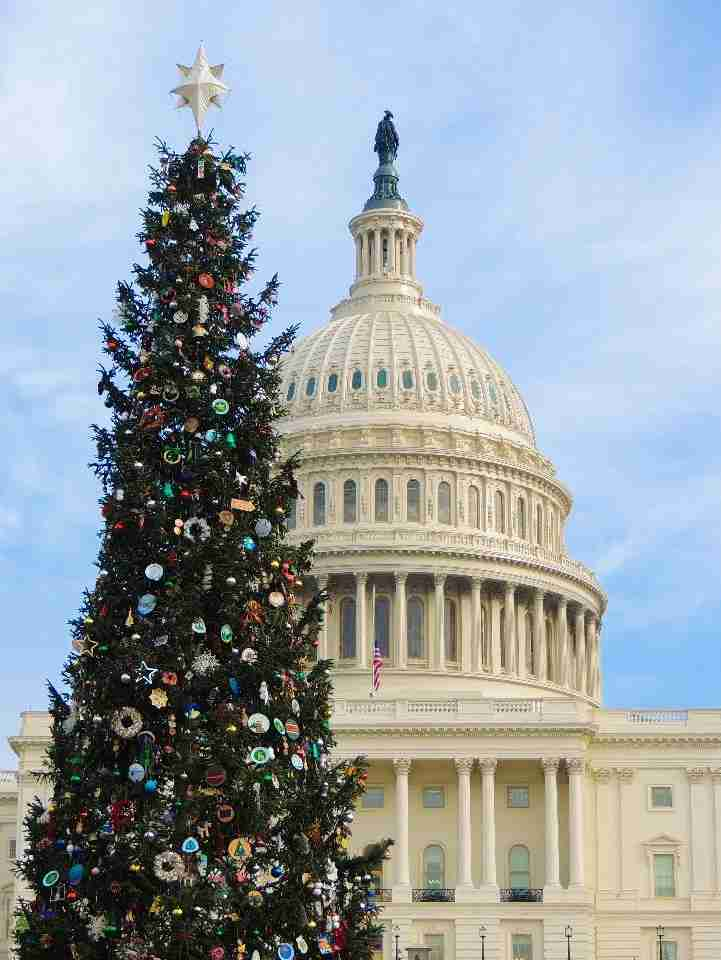 US Capitol at Christmas (White House)