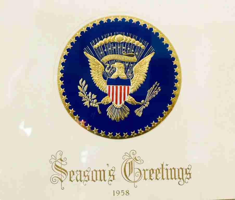 President Eisenhower White House Christmas card