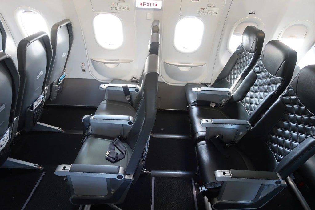 Stretch out in Frontier emergency exit row (Katie Genter / The Points Guy)