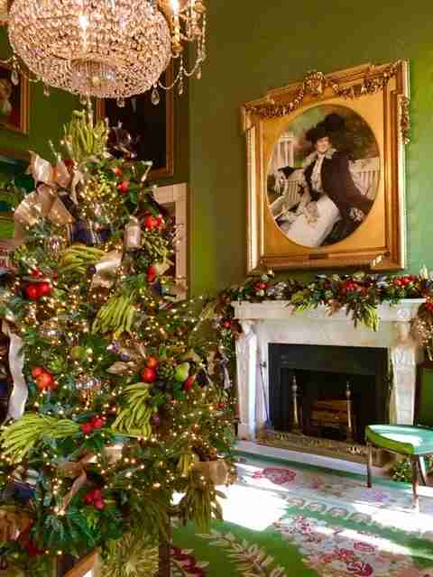 The White House Green Room at Christmas