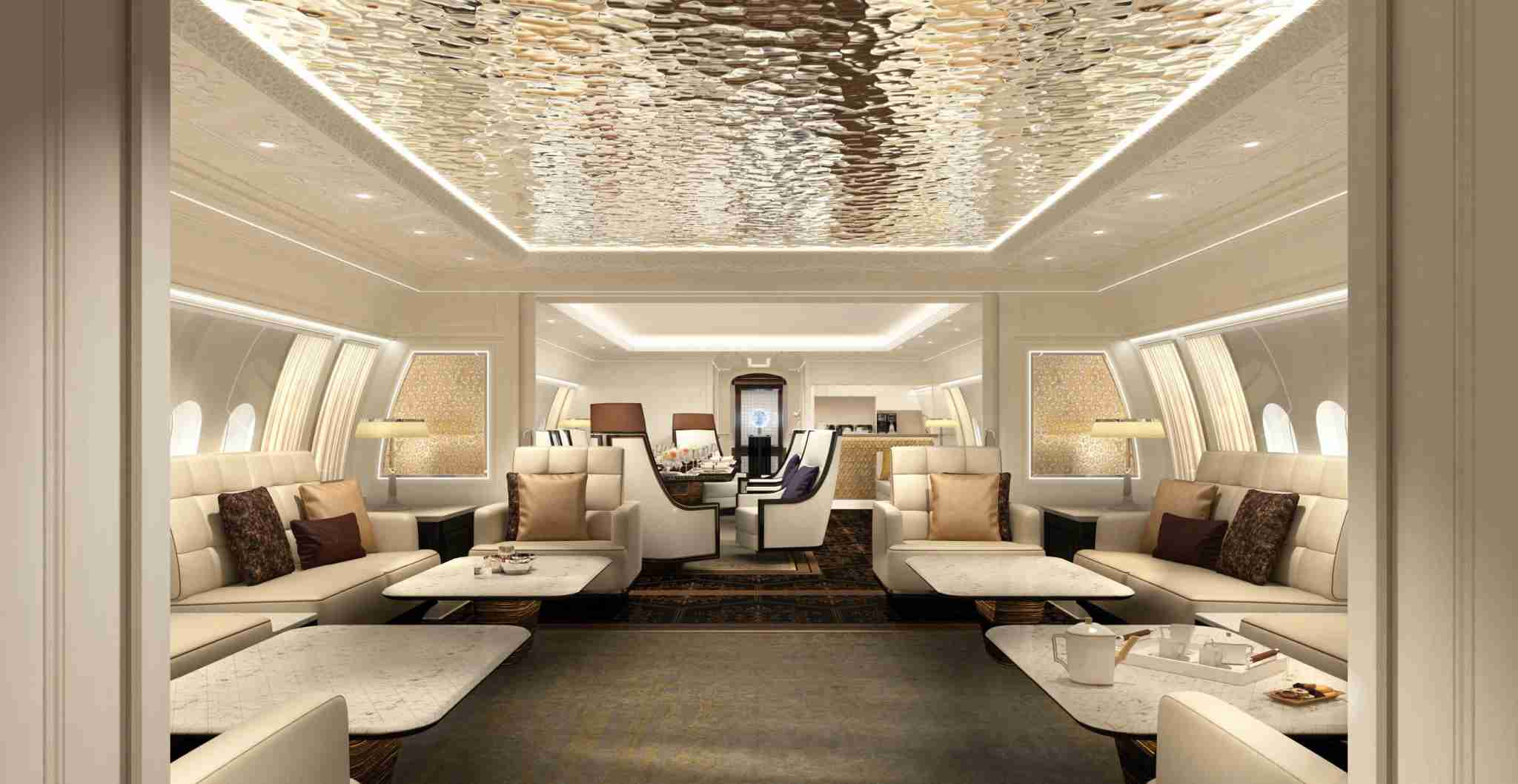 Interior example onboard BBJ 777X (Photo courtesy of Jet Aviation)
