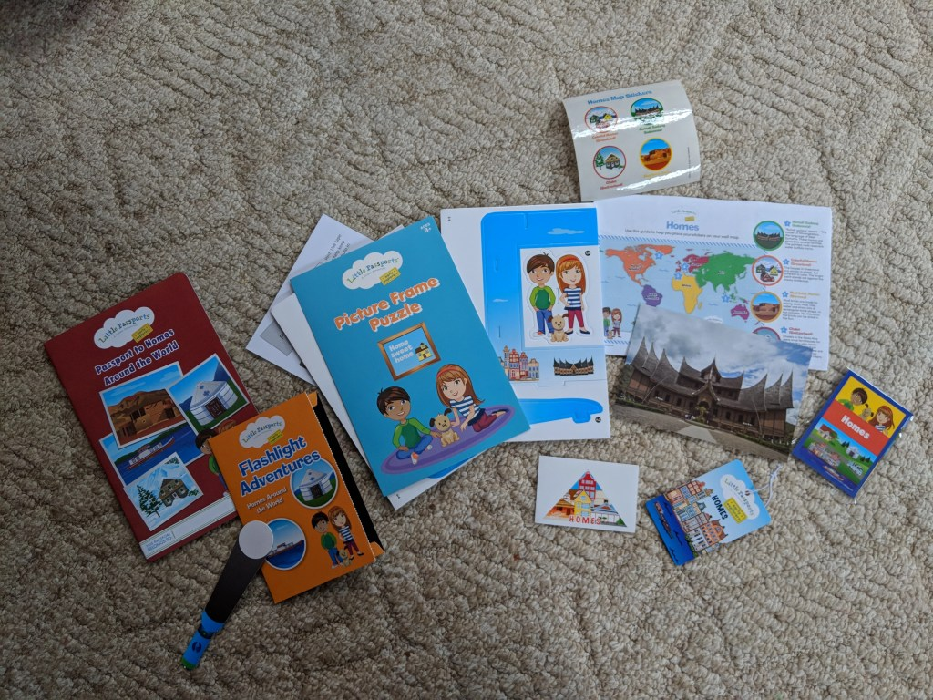 The Homes themed Little Passport package.