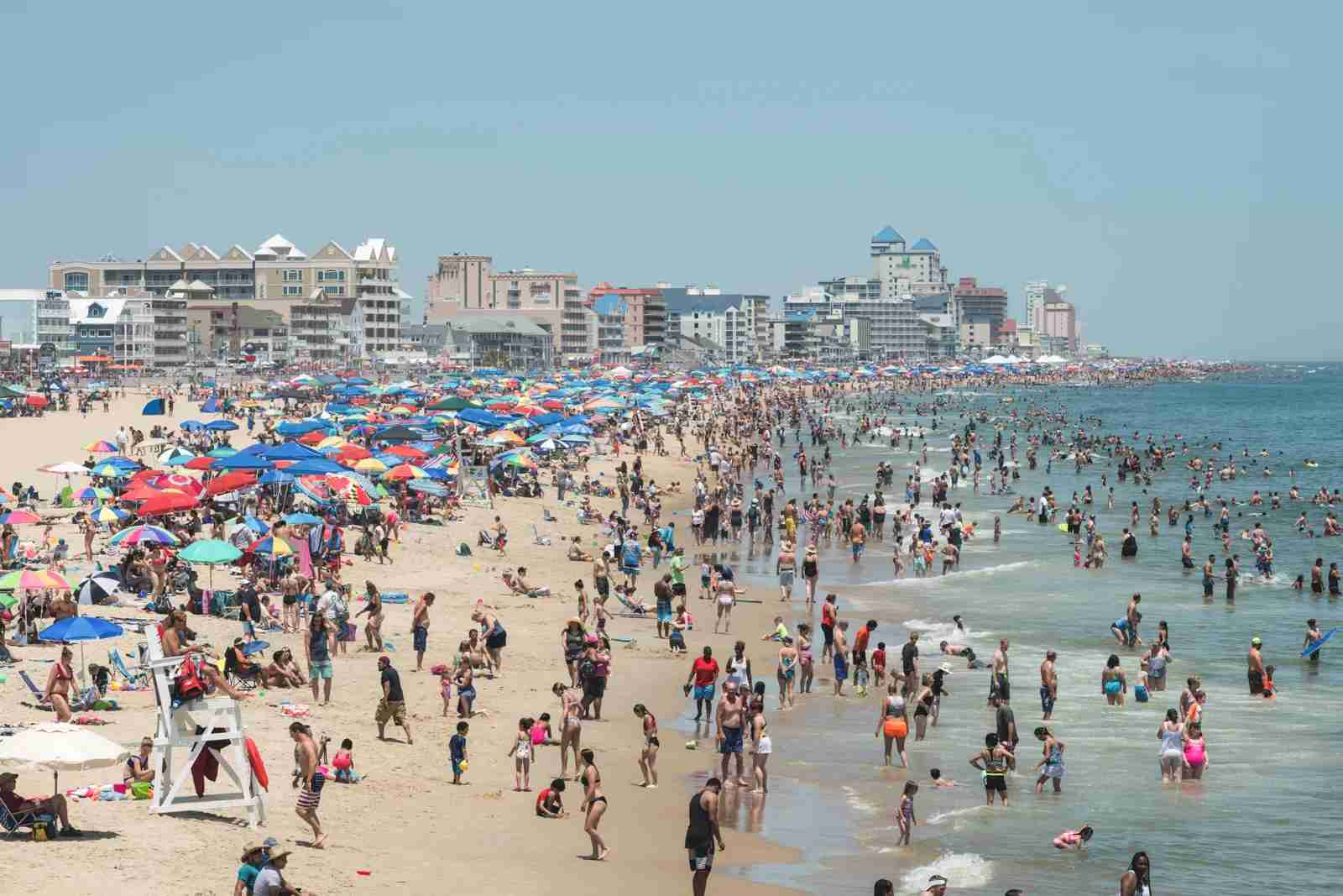 The beach at Ocean City, Maryland. (Photo via Shutterstock)