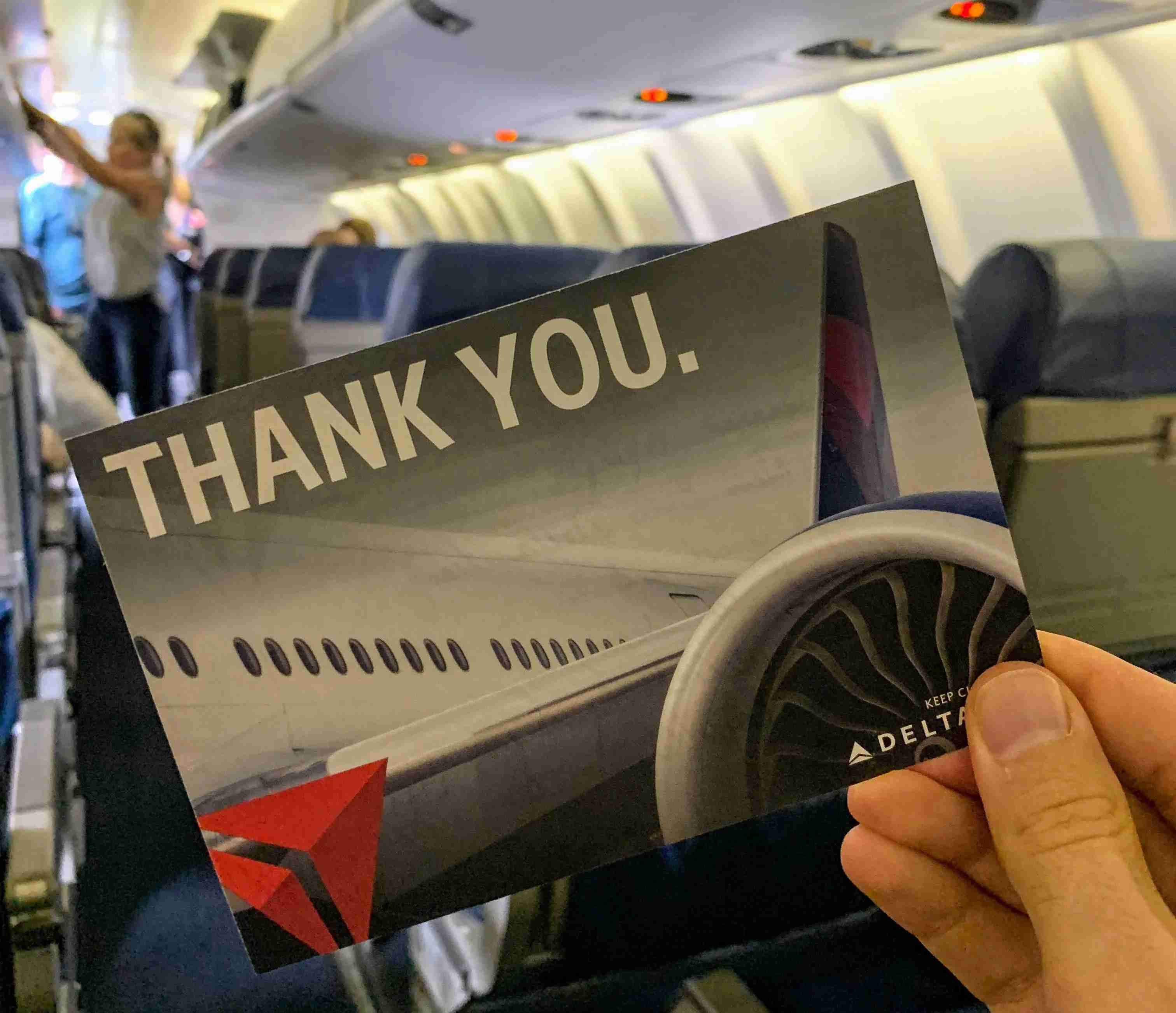 Every so often, top-tier Delta elites will get a hand-written note as they board