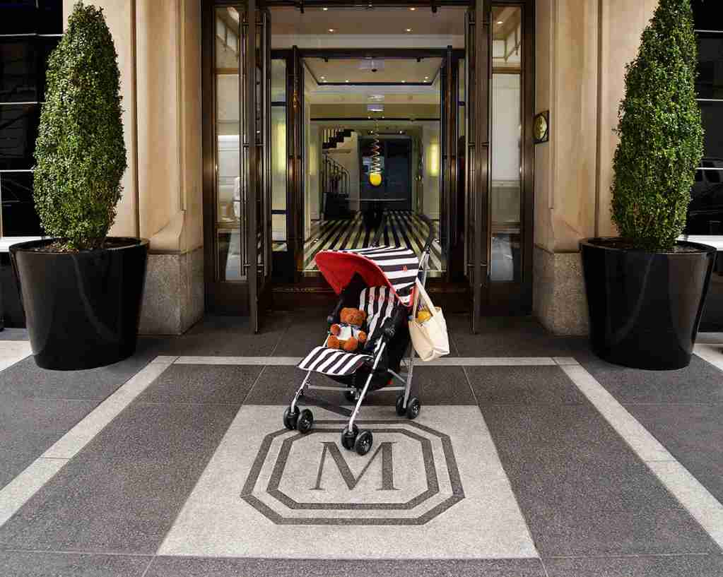 Custom-designed strollers are just one of the amenities available at The Mark Hotel in New York City. (Photo via Traveller Made)