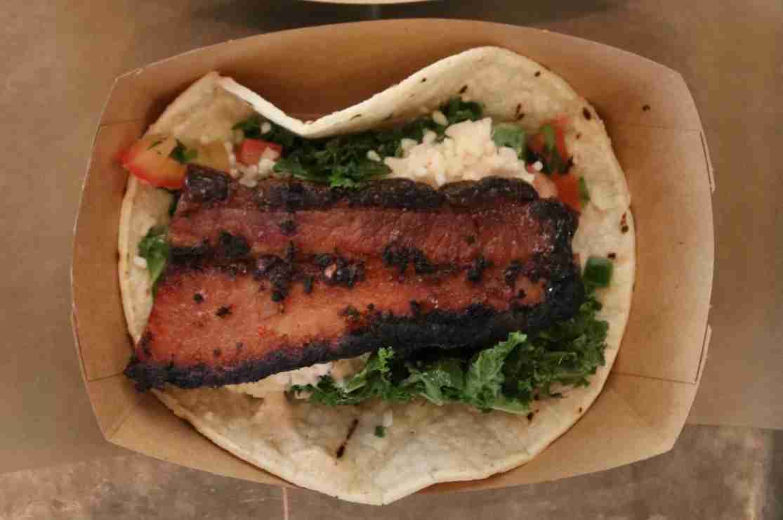 The bacon taco also had kale, because Millennials also love kale.