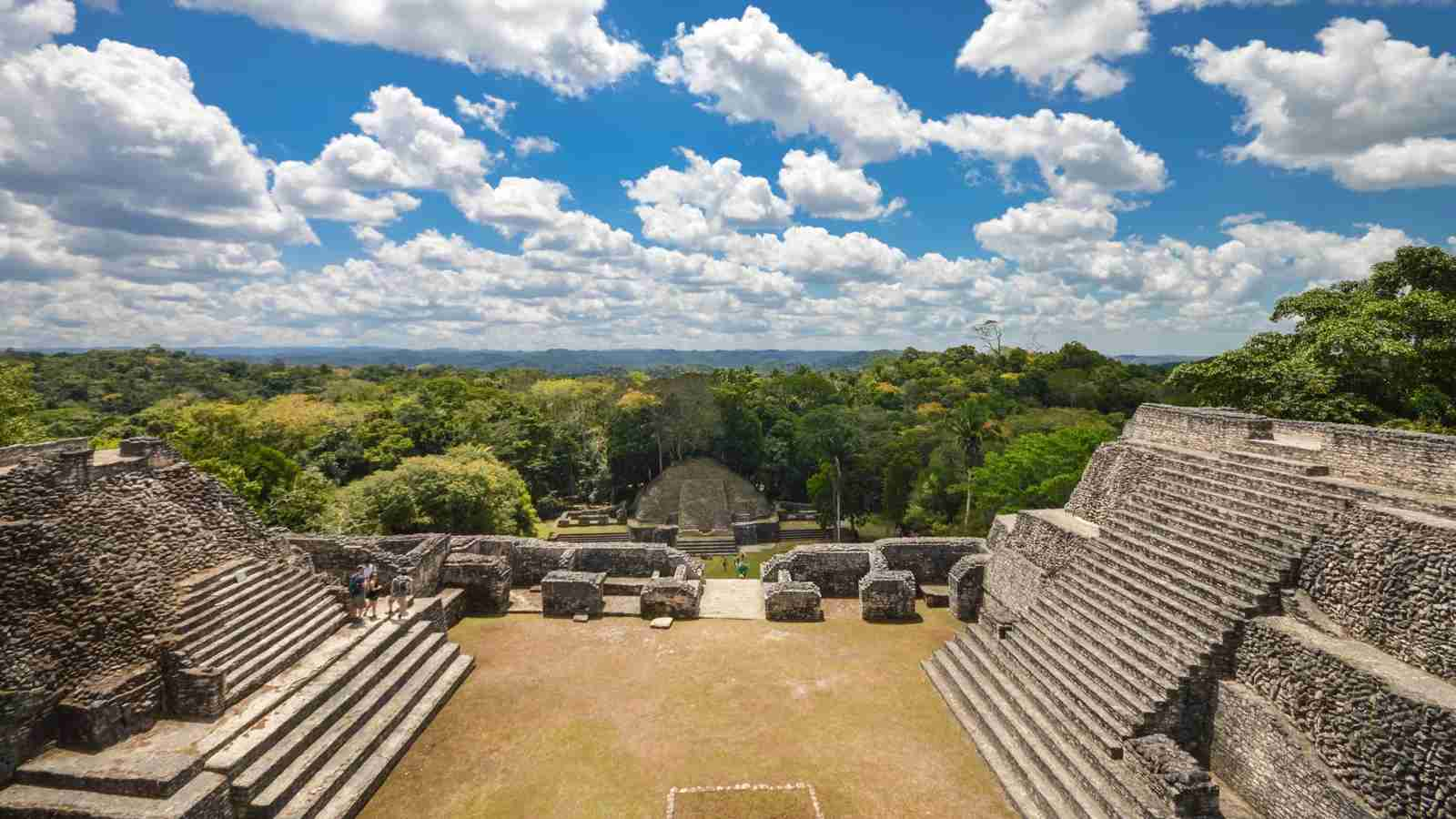 A view of Caracol in the Cayo District, Belize atop the Caana Pyramid. (Photo via Shutterstock)