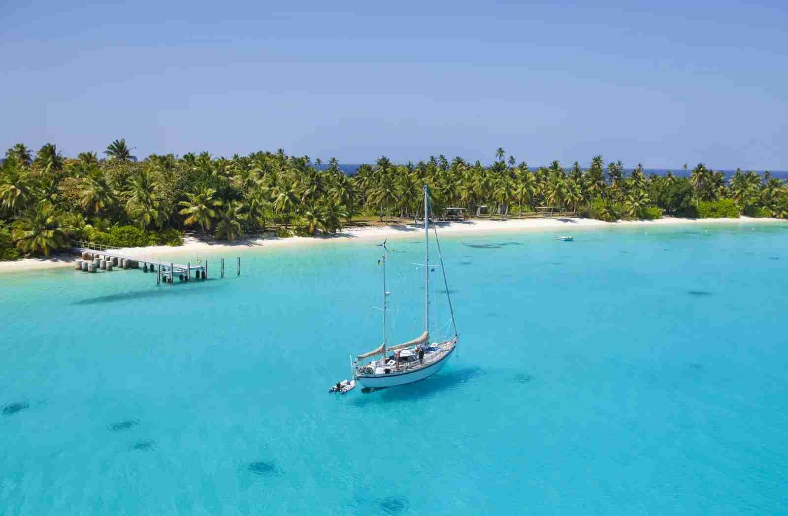 A Cocos Keeling Island atoll. (Photo via Shutterstock)