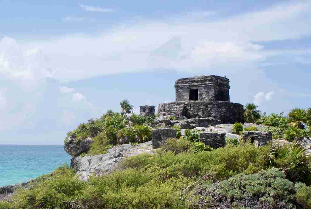 Temple of the God of the Wind at Tulum Mexico