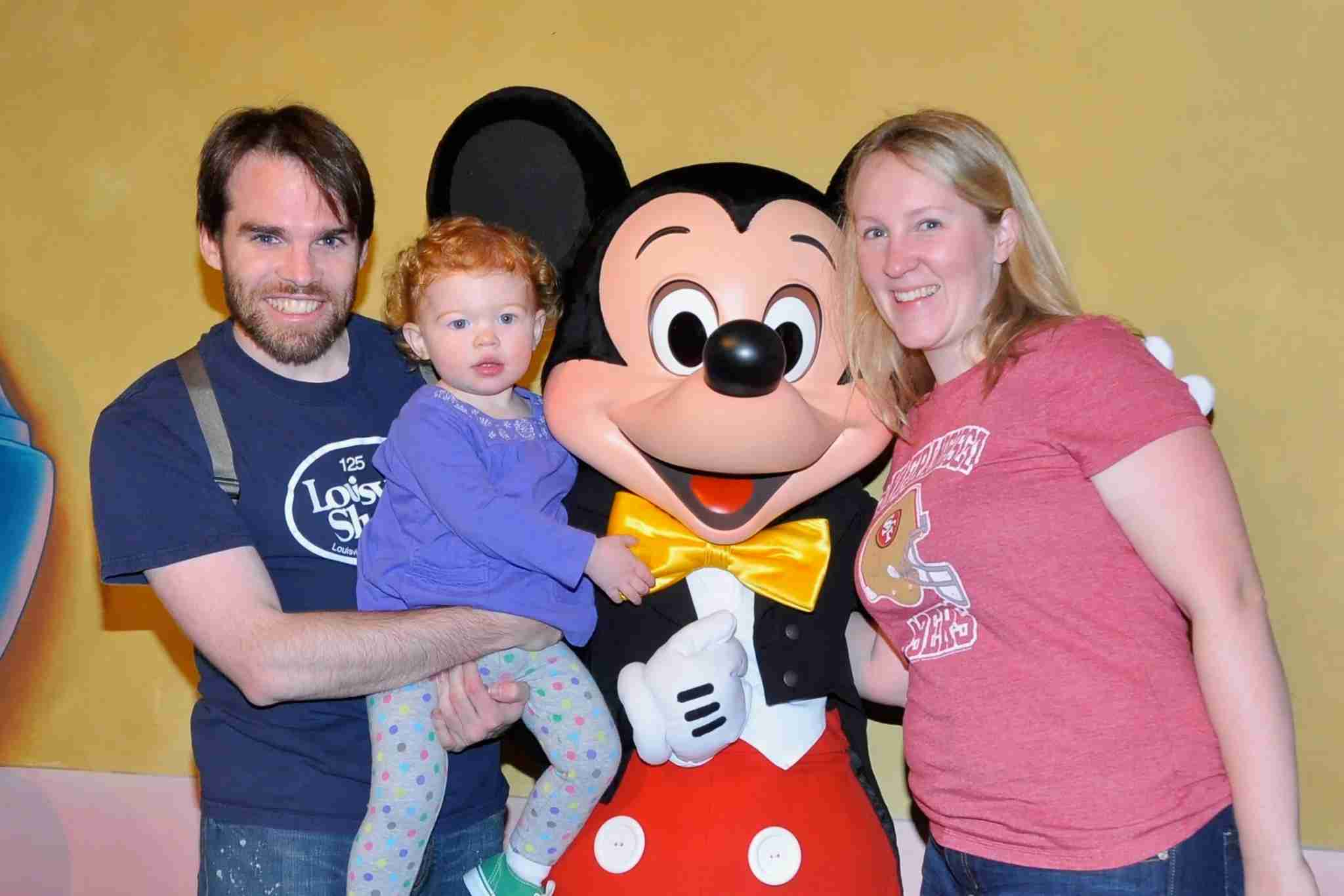 Disneyland with Toddlers - Meeting Mickey Mouse