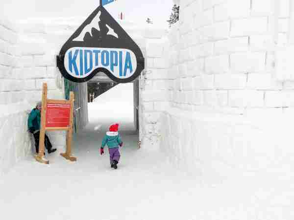 Keystone Kidtopia Ice Fort (Summer Hull/The Points Guy)