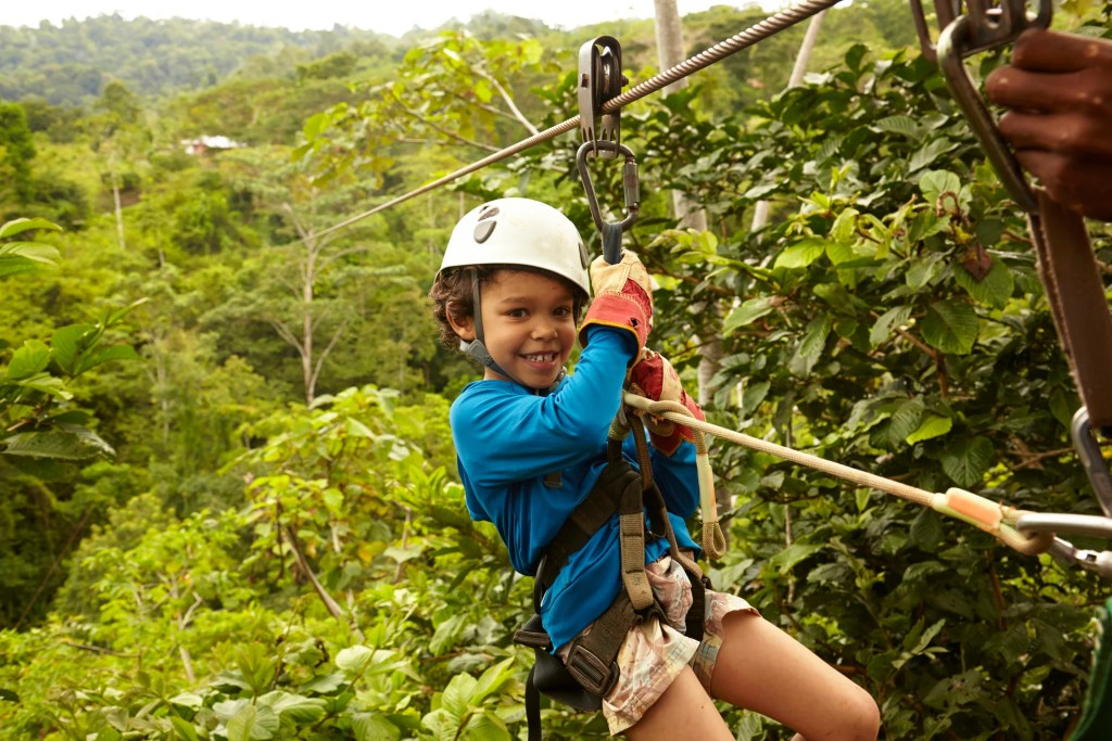 Ziplining in the cloud forests of Costa Rica. Photo: Getty Images