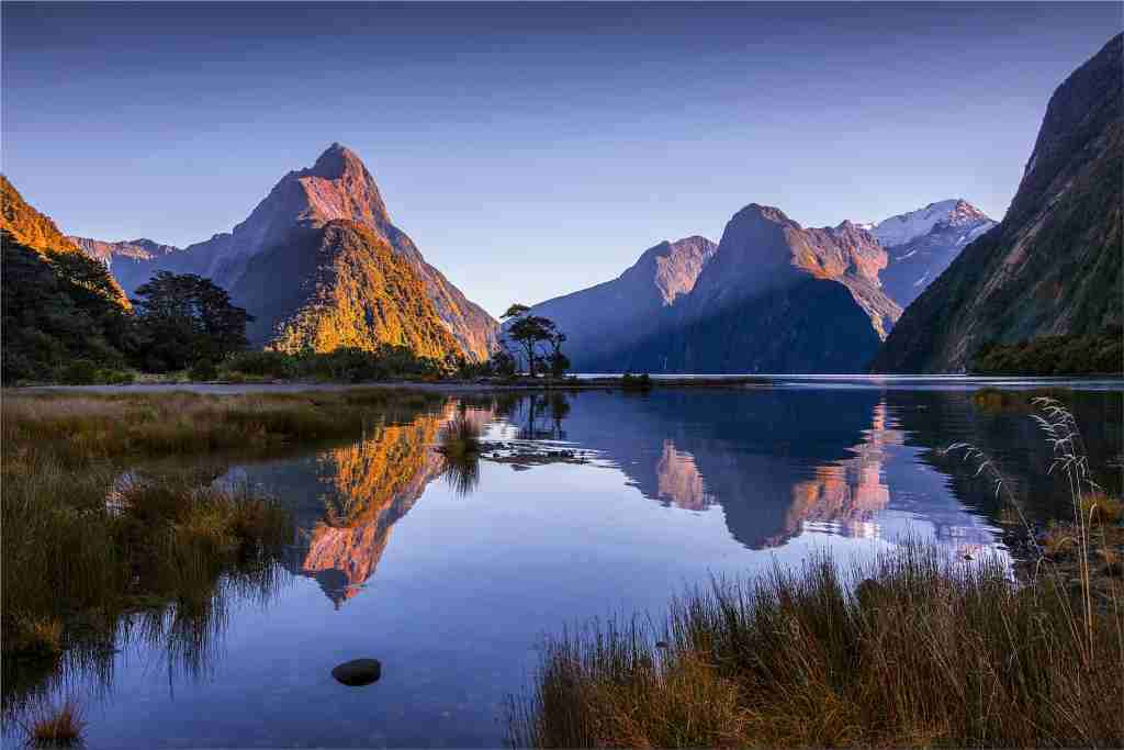 The majestic Milford Sound, Fiordland National Park. Getty Images