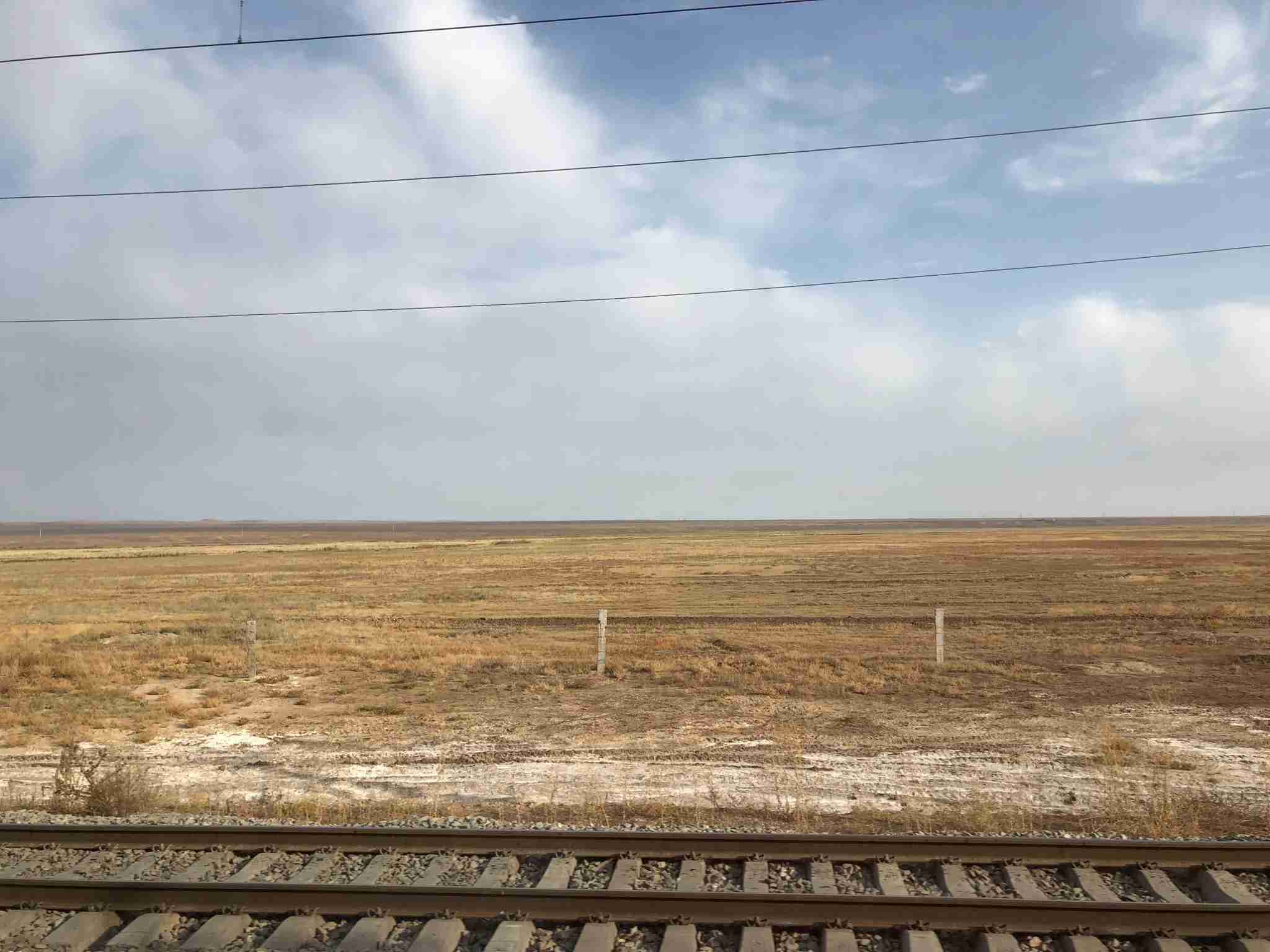 Taking the train is a great way to get a feel for the immense vastness of Kazakhstan.