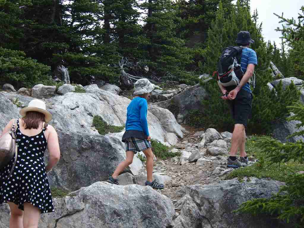The Banff National Park has many easy walking trails suitable for kids. Photo: Elen Turner