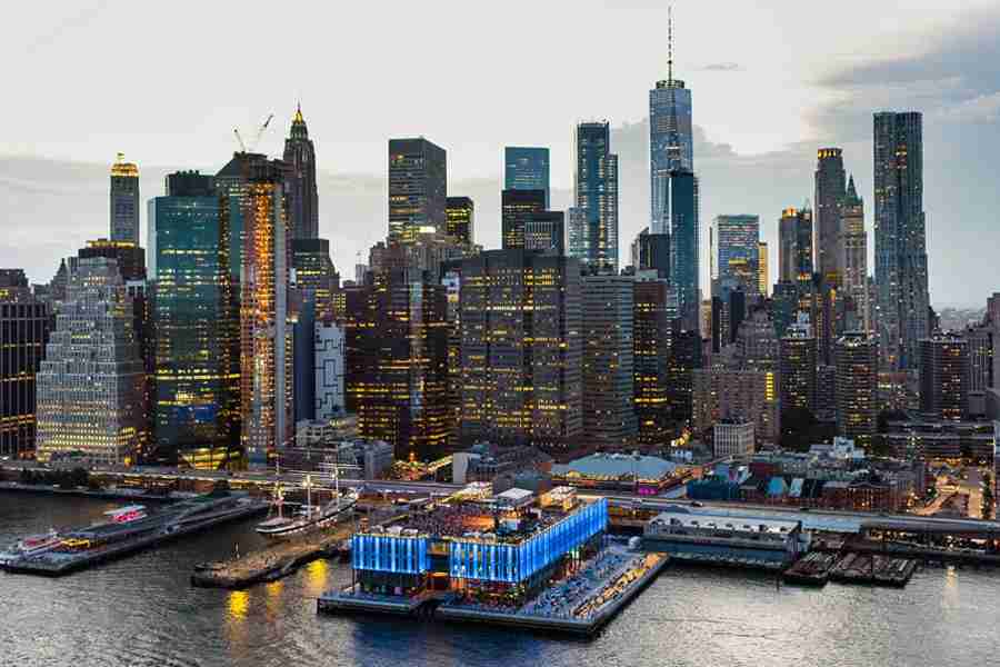 This New York CIty Pier transforms into a rooftop concert venue.