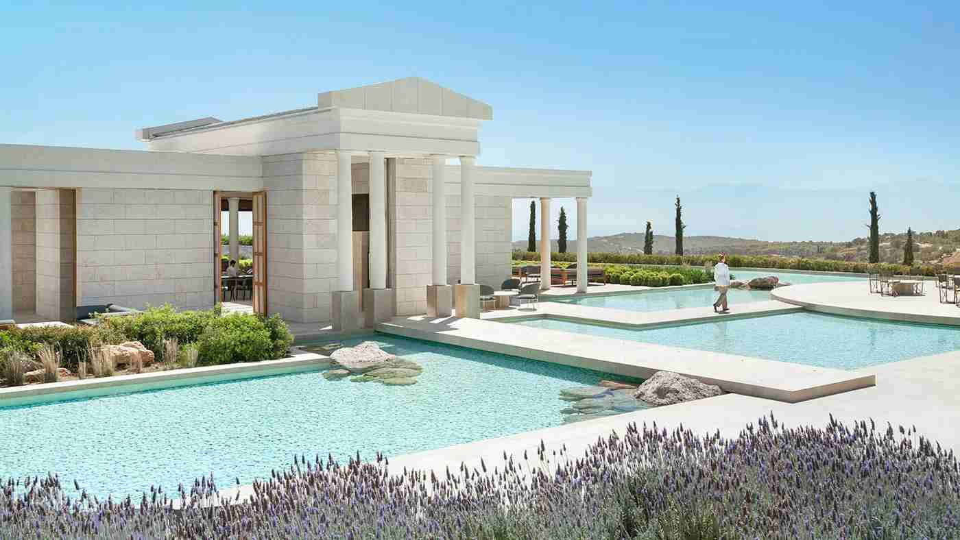 The Amanzoe Luxury Hotel & Resort in Porto Heli, Greece. (Photo courtesy of Aman)