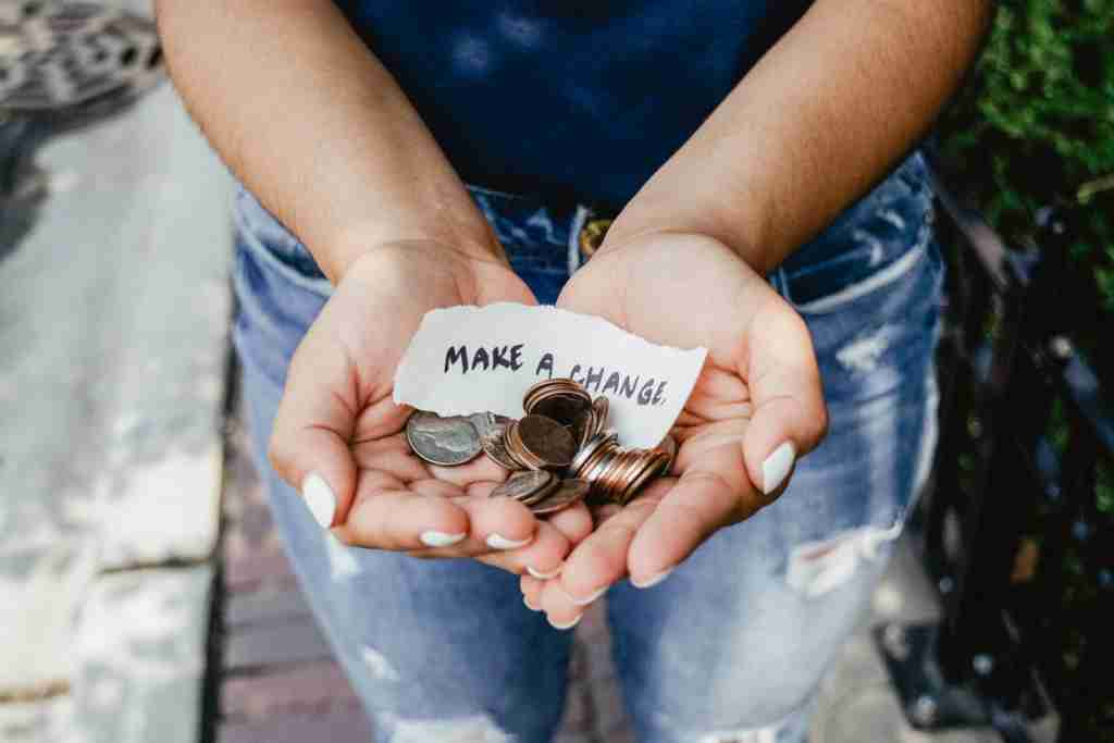 Make change by using your credit card when donating. (Photo by Kat Yukawa via Unsplash)