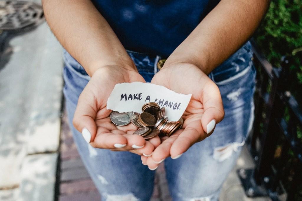 Make change by using your credit card when donating. (Photo by Kat Yukawa via Unsplash)