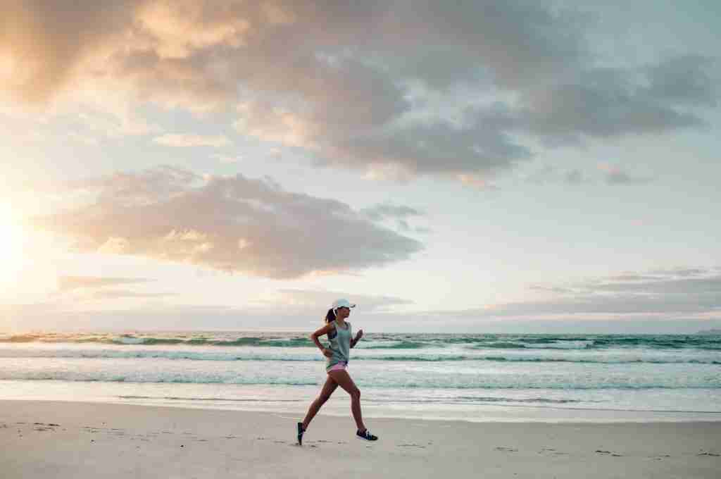 Get the lay of the land by going for a run right when you arrive at your destination. (Photo via Shutterstock)