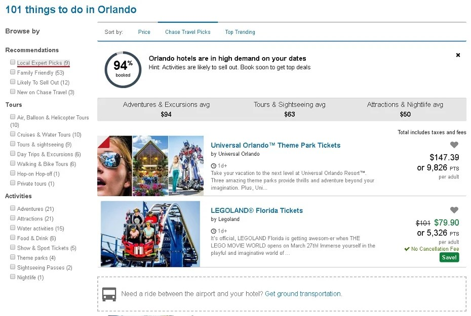 Evaluating the Ultimate Rewards Travel Portal