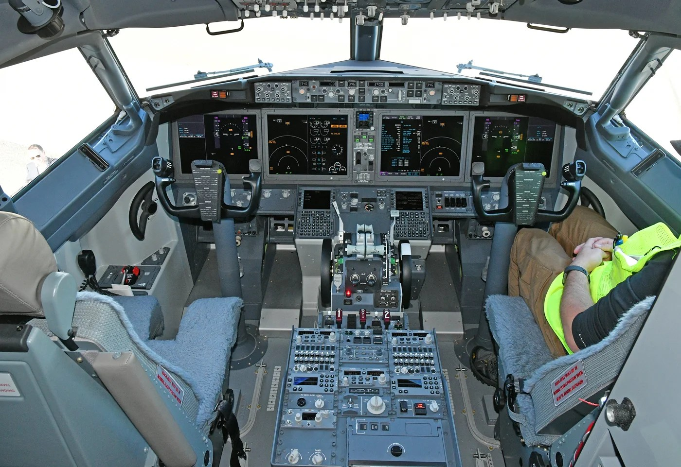 The flight deck of a Boeing 737 MAX 8 (Photo by Alberto Riva/TPG)