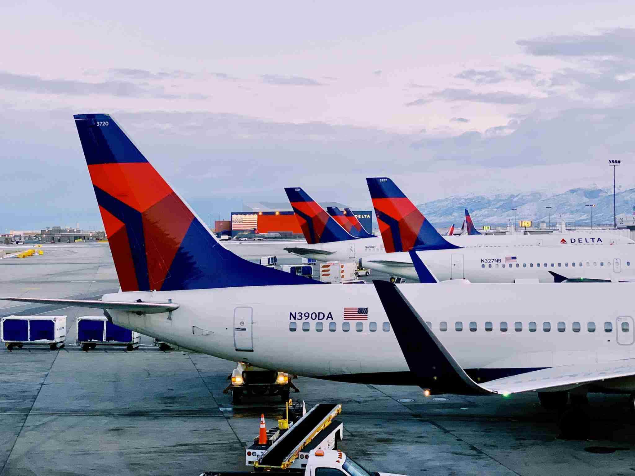 Delta Tail Planes Salt Lake City Airport SLC