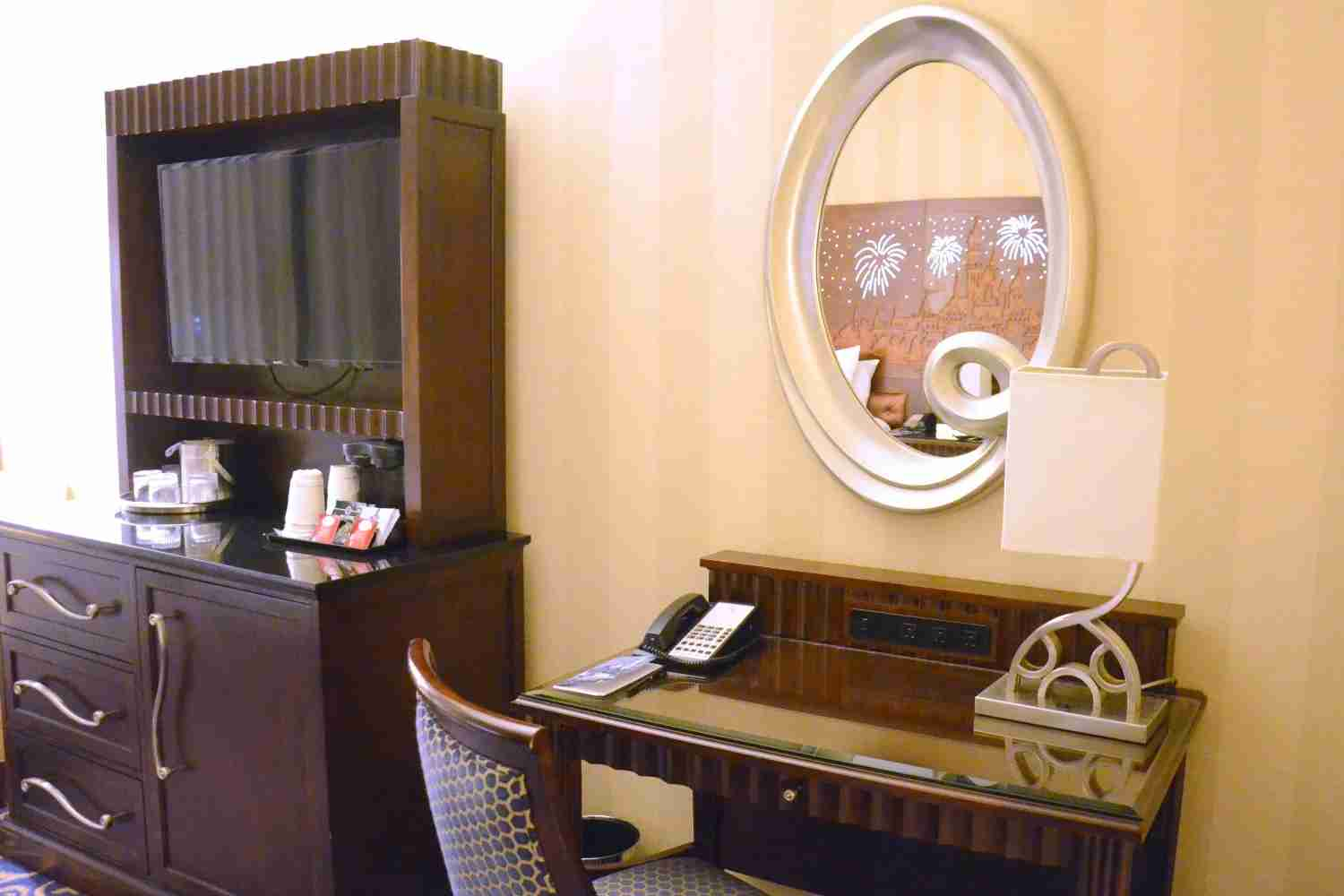 Disneyland Hotel Review - Desk and Dresser