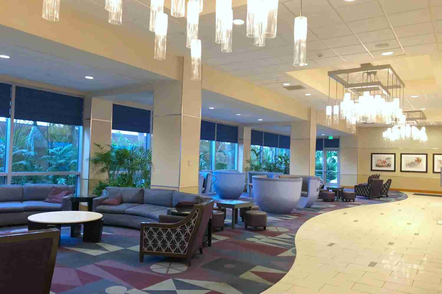 Disneyland Hotel Review - Hotel Lobby