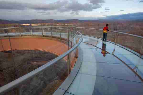 The Skywalk at the West Rim of the Grand Canyon. (Photo by Radius Images / Getty Images)