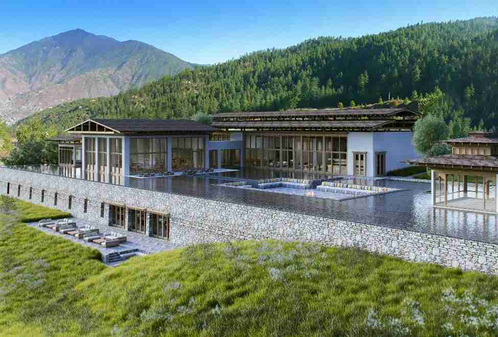 Six Senses includes spas and luxury resorts, like the soon-to-open Six Senses Bhutan. Image courtesy of Six Senses.