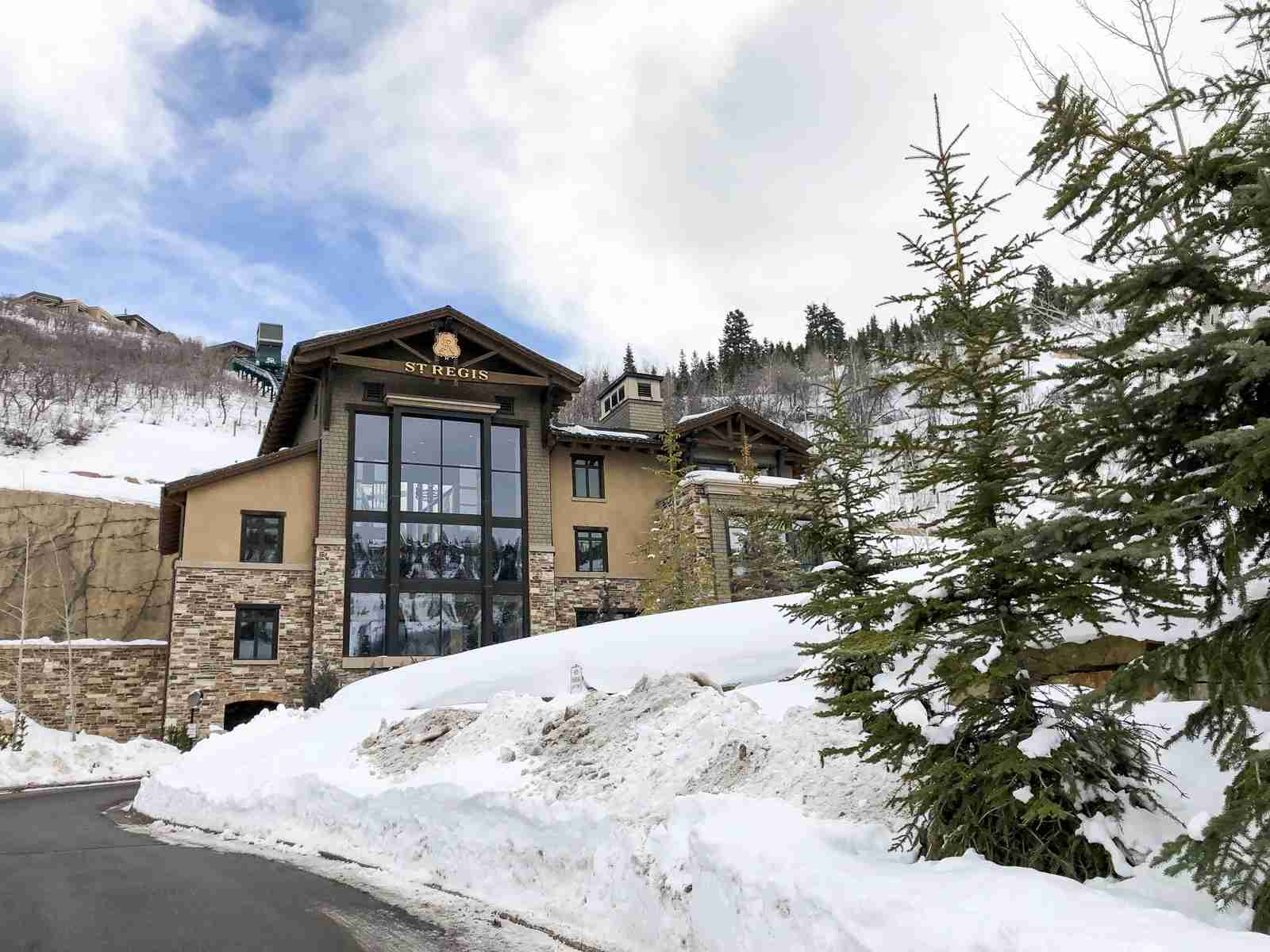 The St. Regis Deer Valley provides slope-side access. (Photo by Summer Hull / The Points Guy)