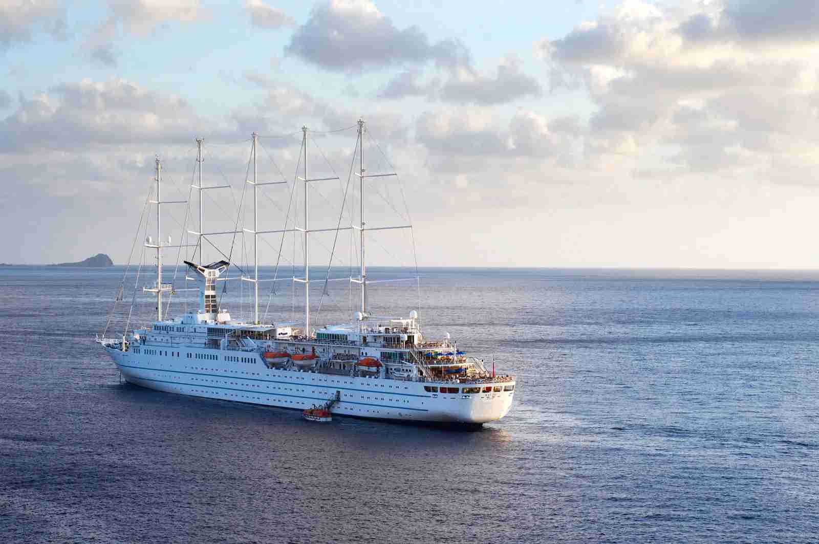 A Windstar cruise ship near Dominica. (Photo via Getty Images)