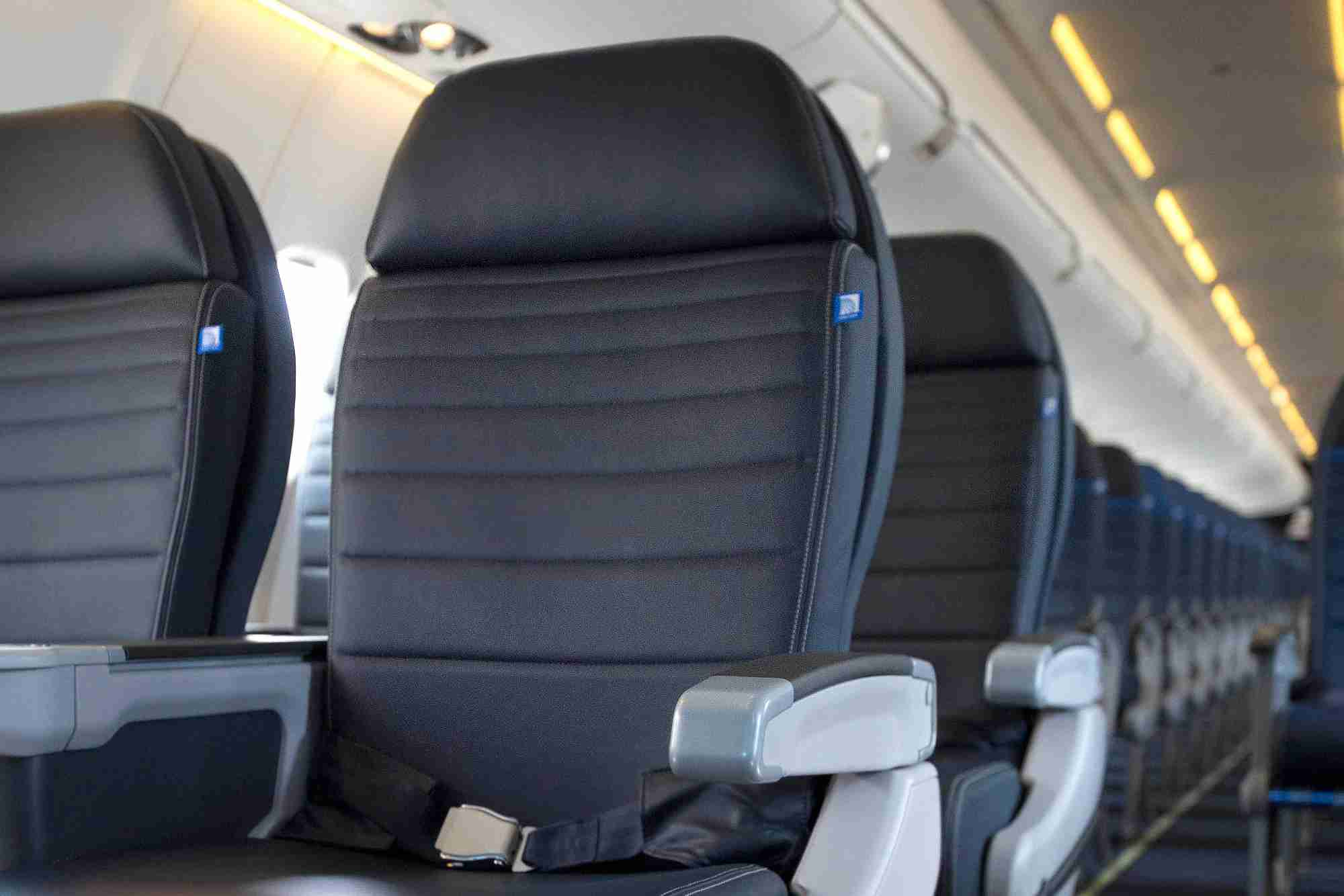 The first class cabin on United