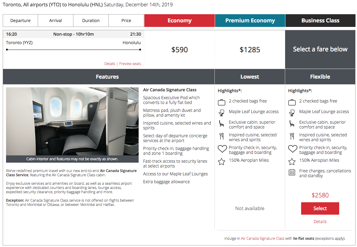 Tickets for the inaugural Dreamliner flight between Toronto and Honolulu are on sale now