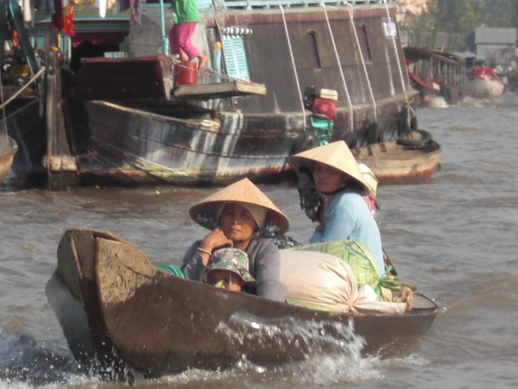 Life revolves around the water in the Mekong Delta (Photo by Elen Turner)